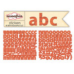 Sassafras Lass - Paper Crush Collection - Cardstock Stickers - Mini Alphabet - Script