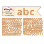 Sassafras Lass - Sunshine Broadcast Collection - Cardstock Stickers - Mini Alphabet - Musical