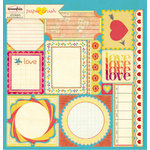Sassafras Lass - Paper Crush Collection - 12 x 12 Cardstock Stickers - Journal Tags