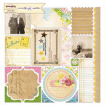 Sassafras Lass - Sweetly Smitten Collection - 12 x 12 Cardstock Stickers - Journal Tags