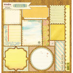 Sassafras Lass - Sunshine Broadcast Collection - 12 x 12 Cardstock Stickers - Journal Tags