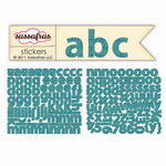 Sassafras Lass - Sunshine Broadcast Collection - Cardstock Stickers - Mini Alphabet - Slate