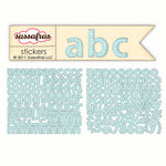 Sassafras Lass - Sunshine Broadcast Collection - Cardstock Stickers - Mini Alphabet - Blue Graph