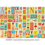 Sassafras Lass - Self Adhesive Chipboard Stickers - Alphabet - Token Pink