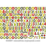 Sassafras Lass - Self Adhesive Chipboard Stickers - Alphabet - Mix and Match - Earthy