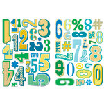 Sassafras Lass - Self Adhesive Chipboard Stickers - Top Ten - Blues