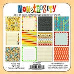 Sassafras Lass - Monstrosity Collection - Wee Bundle - 6 x 6 Paper Pad, BRAND NEW