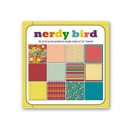 Sassafras Lass - Nerdy Bird Collection - Wee Bundle - 6 x 6 Paper Pad