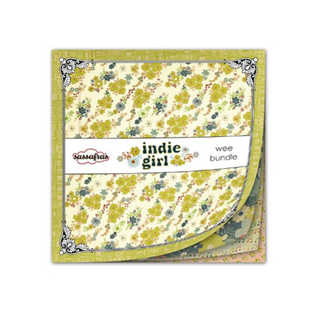 Sassafras Lass - Indie Girl Collection - Wee Bundle - 6 x 6 Paper Pad