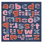 Sassafras Lass - Blue Boutique Collection - Diecut Monograms - Alphabet, CLEARANCE