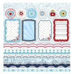 Sassafras Lass - Blue Boutique Collection - Diecut Trims, CLEARANCE
