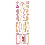 Sassafras Lass - Serendipity Collection - Rub-Ons - Pink Brackets