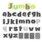 Sassafras Lass - Nesters Clear Stamp Sets - Jumbo Stitched Alphabet, CLEARANCE