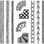 Sassafras Lass - Nesters Clear Stamp Sets - Doodled Borders, CLEARANCE
