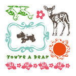 Sassafras Lass - Clear Acrylic Stamps - Quack Quack, CLEARANCE