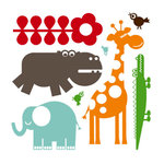 Sassafras Lass - Clear Acrylic Stamps - Jungle Pals