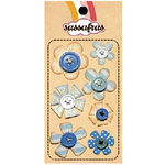 Sassafras Lass - In a Stitch - Blossoms - Blue, CLEARANCE