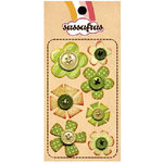 Sassafras Lass - In a Stitch - Blossoms - Green, CLEARANCE