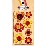 Sassafras Lass - In a Stitch - Blossoms - Orange, CLEARANCE