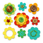 Sassafras Lass - In a Stitch Blossoms - Sunny Day , CLEARANCE