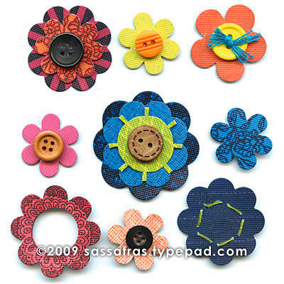 Sassafras Lass - In a Stitch Blossoms - Mod Pods, CLEARANCE