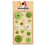 Sassafras Lass - In a Stitch - Buttons - Green, CLEARANCE