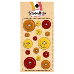 Sassafras Lass - In a Stitch - Buttons - Orange, CLEARANCE