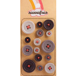 Sassafras Lass - Serendipity - Life at the Pole Collection - In a Stitch Buttons - Grey, CLEARANCE