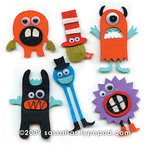 Sassafras Lass - Self Adhesive Felties - Silly Monster