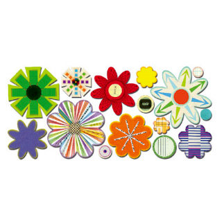 Sassafras Lass - Paper Whimsies - Die Cut Blossoms - Petal to the Metal