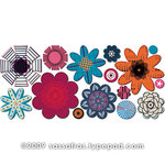 Sassafras Lass - Paper Whimsies - Die Cut Blossoms - Shindig
