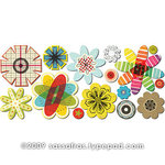 Sassafras Lass - Paper Whimsies - Die Cut Blossoms - Rainbow Layers