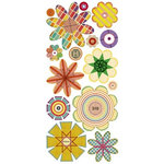 Sassafras Lass - Paper Whimsies - Die Cut Blossoms - Razzle Dazzle, CLEARANCE