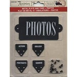 7 Gypsies - Metal Plate and Tabs - Photos , CLEARANCE