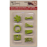 7 Gypsies - Photo Turn Shapes and Brads Kit - Reef Green, CLEARANCE