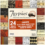 7 Gypsies - 12x12 Paper Pack - Variety - Journey - Canopie
