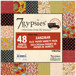 7 Gypsies - 8x8 Paper Pack - Variety - Journey - Zanzibar