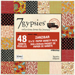 7 Gypsies - 12x12 Paper Pack - Variety - Journey - Zanzibar