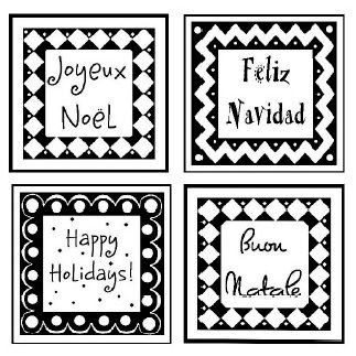 Shirleys 2 Girls - Christmas - Clear Acrylic Stamps - Holiday Greetings, CLEARANCE