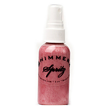 Shimmerz - Spritz - Iridescent Mist Spray - 2 Ounce Bottle - Bed of Roses