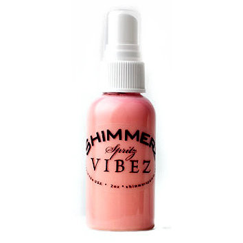 Shimmerz - Vibez - Iridescent Mist Spray - Bold - 2 Ounce Bottle - Pop Art Pink