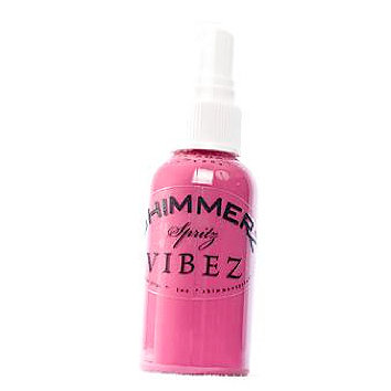 Shimmerz - Vibez - Iridescent Mist Spray - Bold - 1 Ounce Bottle - Razzeldazzel Berry