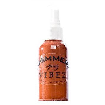 Shimmerz - Vibez - Iridescent Mist Spray - Bold - 1 Ounce Bottle - Rusty Bottom