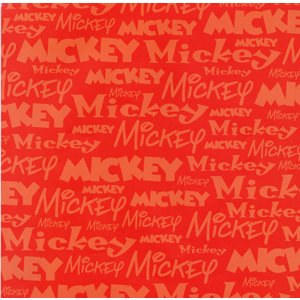 Sandylion Disney Patterned Paper - Mickey Name, CLEARANCE