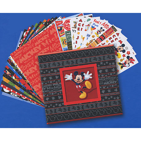 Sandylion - Disney - 12x12 Scrapbook Album Kit - Mickey, CLEARANCE