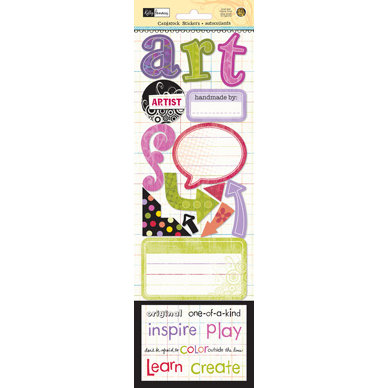 Sandylion - Artsy Collection by Kelly Panacci - Cardstock Stickers - Artsy, CLEARANCE