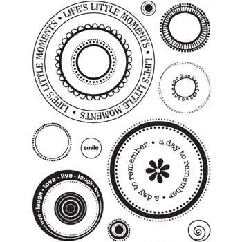 Sandylion - Kelly Panacci Collection - Clear Acrylic Stamps - 360 Degrees - Circles