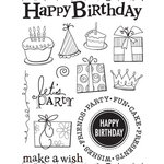 Sandylion - Kelly Panacci Collection - Clear Acrylic Stamps - Birthday, CLEARANCE