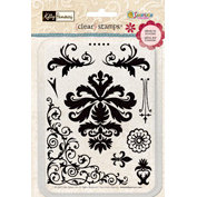 Sandylion - Kelly Panacci Collection - Clear Stamps - Damask, CLEARANCE