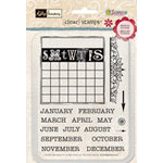 Sandylion - Kelly Panacci Collection - Clear Stamps - Calendar, CLEARANCE